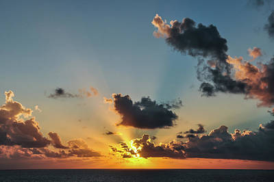 Photograph - Sunset In The Caribbean Sea by Joel Thai