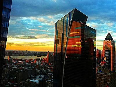 Sunset In The City Art Print by Lisa  Esposito