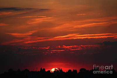 Sunset In The City Art Print by Mariola Bitner