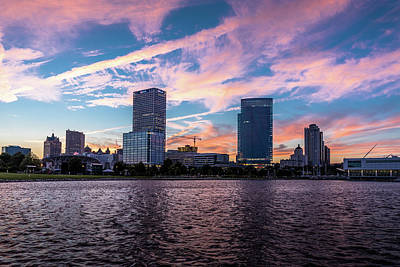 Photograph - Sunset In The City by Randy Scherkenbach