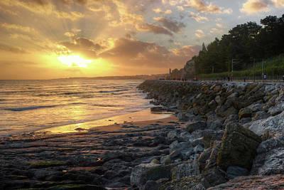 Sunset In The Coast Art Print