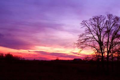 Sunset In The Country Art Print by Amanda Kiplinger