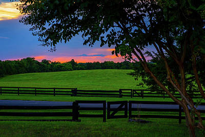 Wall Art - Photograph - Sunset In The Country by Cliff Middlebrook