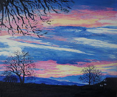Painting - Sunset In The Country by Lisa Rose Musselwhite