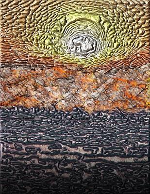 Digital Art - Sunset In The Desert by Michael Hurwitz