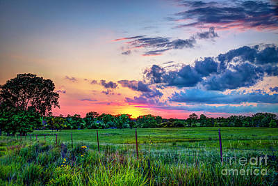Photograph - Sunset In The Eastern Flint Hills by Jean Hutchison