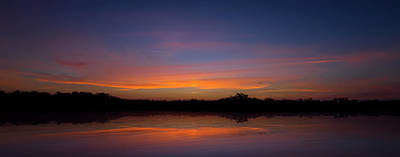 Photograph - Sunset In The Everglades by Mark Andrew Thomas
