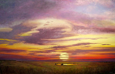 Sunset In The Flint Hills Art Print