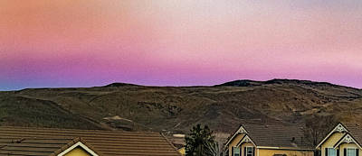 Photograph - Sunset In The Foothills by Nancy Marie Ricketts