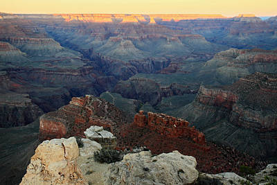 Photograph - Sunset In The Grand Canyon Arizona by Pierre Leclerc Photography