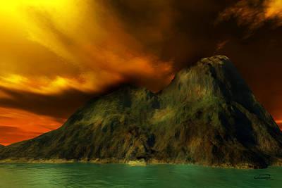 Sunset In The Island Art Print by Emma Alvarez