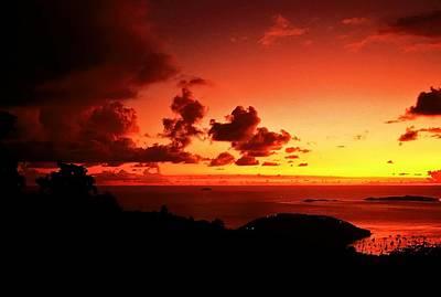 Sunset In The Islands Art Print by Bill Jonscher