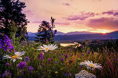 Photograph - Sunset In The Kootenays by Tracy Munson