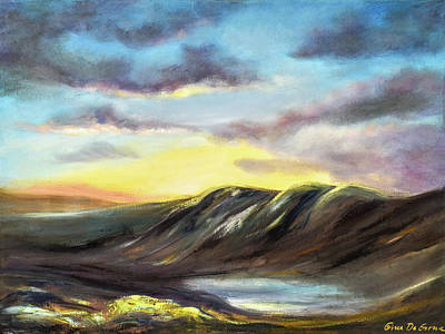 Painting - Sunset In The Mountains by Gina De Gorna