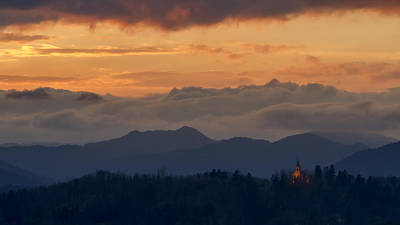 Vladimir Putin Photograph - Sunset In The Mountains by Vyacheslav Isaev
