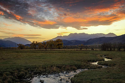 Art Print featuring the photograph Sunset In The North Fields, Heber Valley, Utah. by Johnny Adolphson