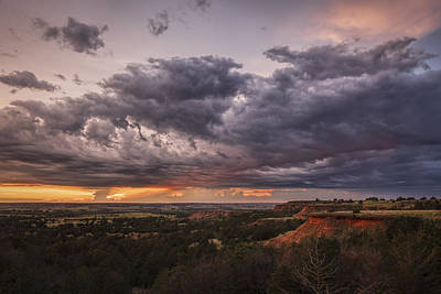 Sunset In The Red Hills Art Print