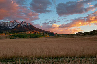 Photograph - Sunset In The Rockies by Steve Stuller