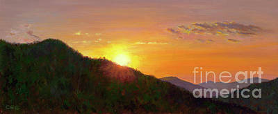 Smokey Mountains Painting - Sunset In The Smokies by Christa Eppinghaus