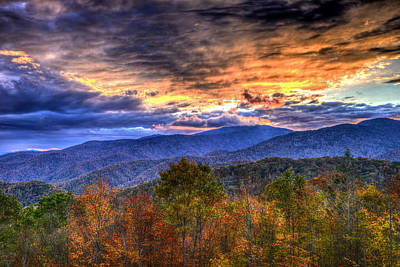Photograph - Sunset In The Smokies by Don Mercer