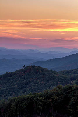Photograph - Sunset In The Smokies by Teri Virbickis