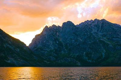 Photograph - Sunset In The Tetons by Polly Castor