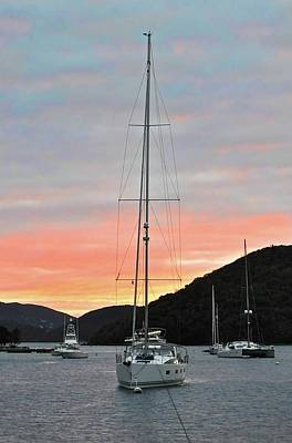 Photograph - Sunset In The Virgin Islands by Kristina Deane