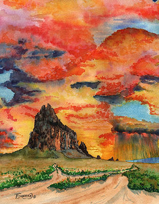 Gallup Painting - Sunset In The West by Timithy L Gordon