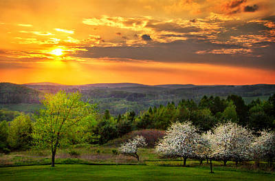 Sunset In Tioga County Pa Art Print