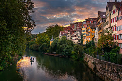 Photograph - Sunset In Tubingen by Dmytro Korol