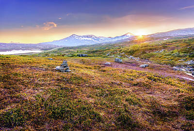 Art Print featuring the photograph Sunset In Tundra by Dmytro Korol