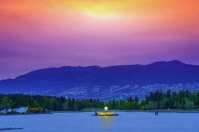 Sunset In Vancouver  Art Print by Art Spectrum