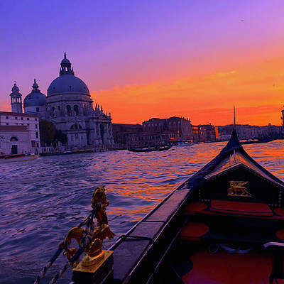 Venice Photograph - sunset in Venice by Happy Home Artistry