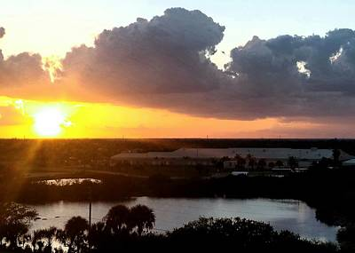 Photograph - Sunset In Viera Florida by Paulo Guimaraes