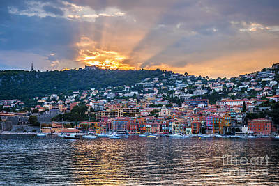 Yacht Photograph - Sunset In Villefranche-sur-mer by Elena Elisseeva