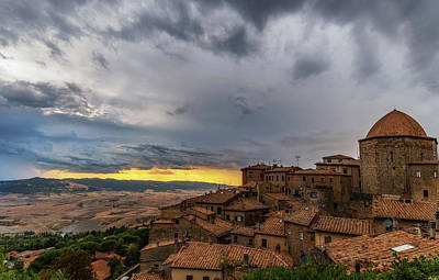 Sunset In Volterra Art Print