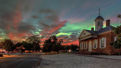 Photograph - Sunset In Williamsburg Virginia by Jerry Gammon