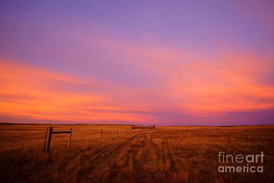 Photograph - Sunset In Wyoming by Benedict Heekwan Yang