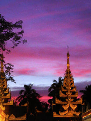 Photograph - Sunset In Yangon by Kurt Van Wagner