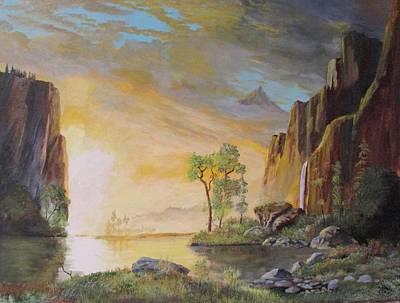 Sunset In Yosemite Art Print