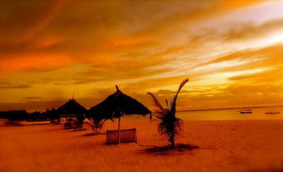 Sunset In Zanzibar Print by Joe  Burns
