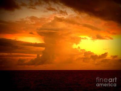 Photograph - Sunset Indian Ocean by John Potts