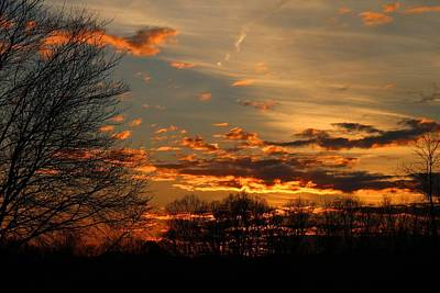 Photograph - Sunset Is Glowing by Kathryn Meyer