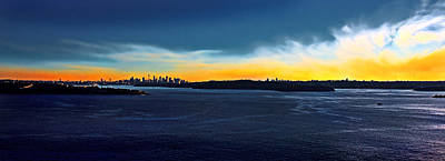 Photograph - Sunset Is Upon Sydney by Miroslava Jurcik