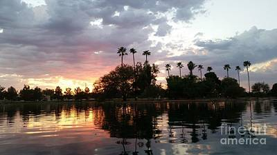 Photograph - Sunset Island In Chaparral Lake Horizontal  by Heather Kirk