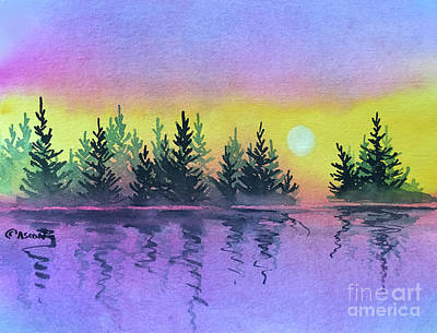 Painting - Sunset Iv by Teresa Ascone