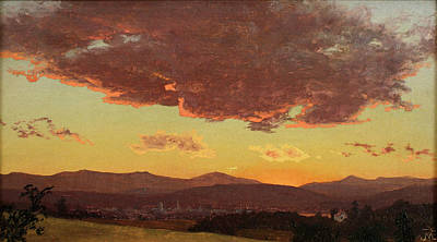 Mcentee Painting - Sunset by Jervis