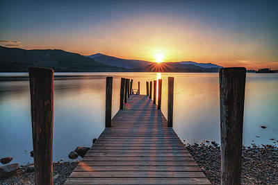 Photograph - Sunset Jetty by Framing Places
