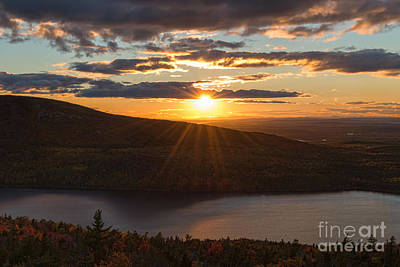 Photograph - Sunset Jordan Pond by Sharon Seaward