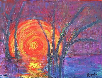 Painting - Sunset by Karin Eisermann
